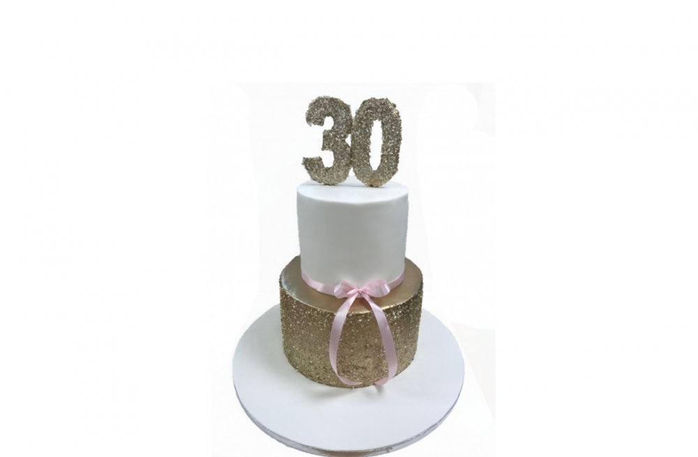 April - Tiered Sequin Cake