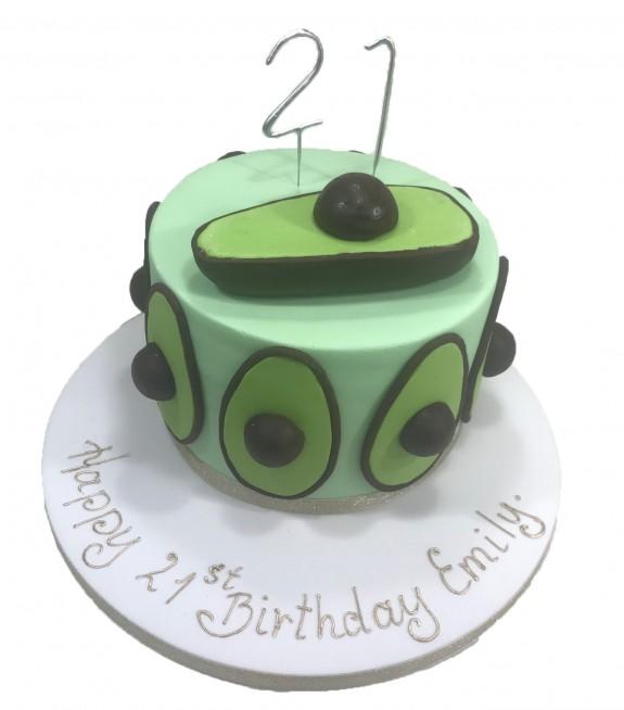 Miraculous Avocado Cake Funny Birthday Cards Online Hendilapandamsfinfo