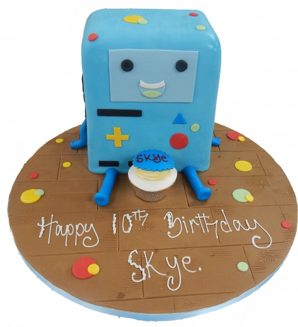 Prime Bmo Adventure Time Birthday Cake Funny Birthday Cards Online Fluifree Goldxyz