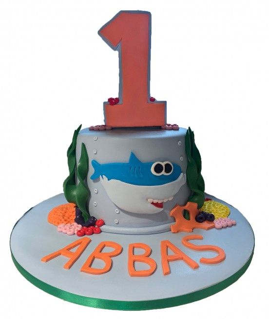 Marvelous Baby Shark Birthday Cake Funny Birthday Cards Online Fluifree Goldxyz