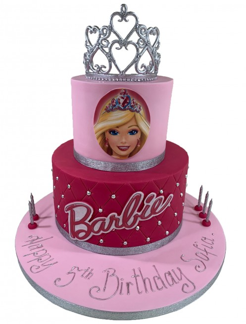 Cool Barbie Princess Tiered Cake Funny Birthday Cards Online Alyptdamsfinfo