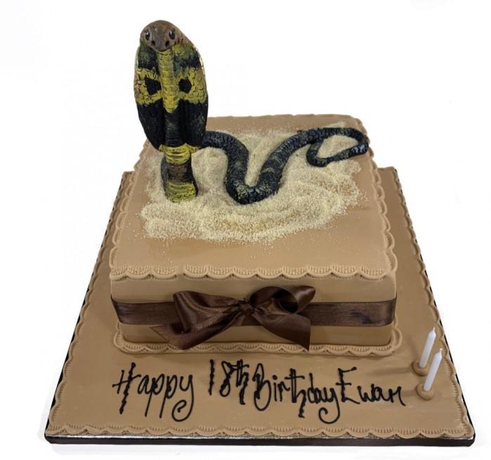Swell Cobra Snake Funny Birthday Cards Online Overcheapnameinfo