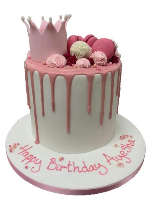 Prime Crown Drizzle Cake Funny Birthday Cards Online Kookostrdamsfinfo