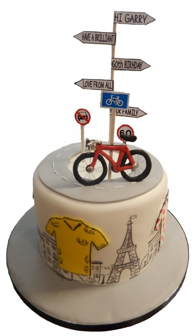 Tiered Cycling Cake