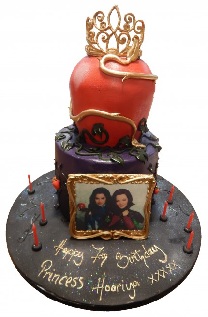 Disney Descendants Birthday Cake