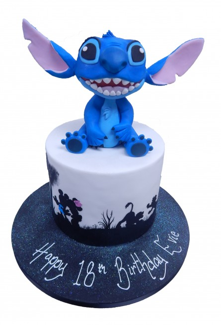 Disney Silhouette Stitch Cake