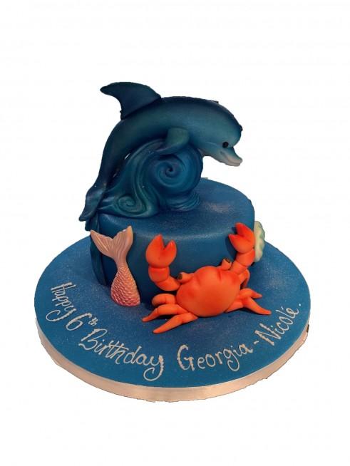 Marvelous Dolphin Birthday Cake Funny Birthday Cards Online Alyptdamsfinfo