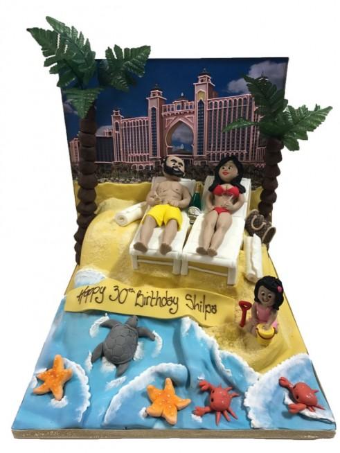 Outstanding Beach Holiday Dubai Sand Figure Birthday Palm Tree Birthday Cards Printable Trancafe Filternl