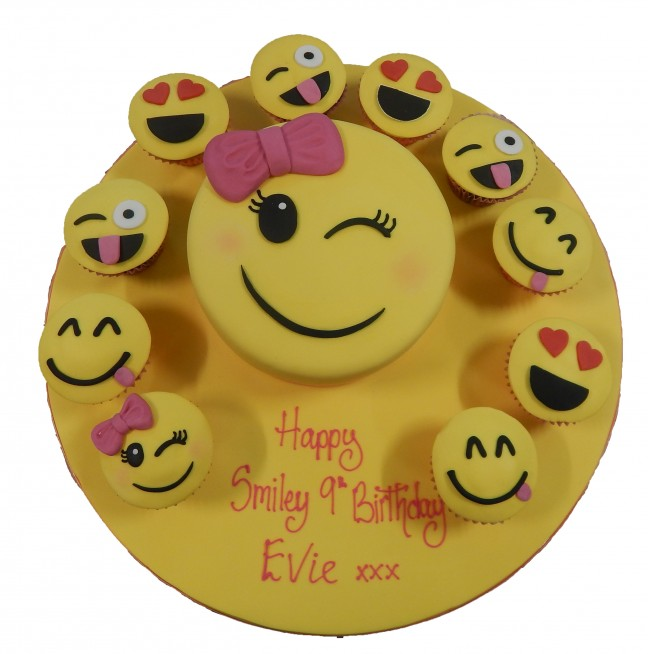 Emoji Cake Cupcakes