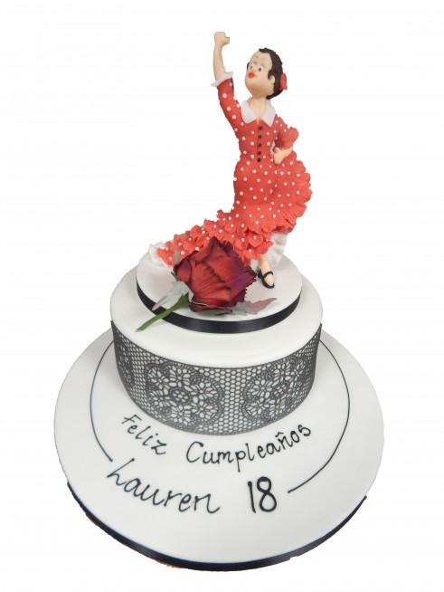 Astonishing Flamenco Dancer Birthday Cake Personalised Birthday Cards Cominlily Jamesorg
