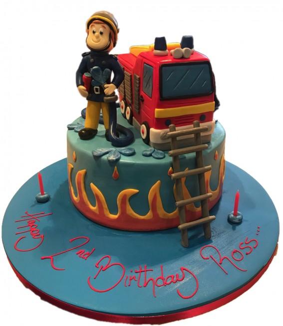 Phenomenal Fireman Sam Birthday Cake Funny Birthday Cards Online Elaedamsfinfo