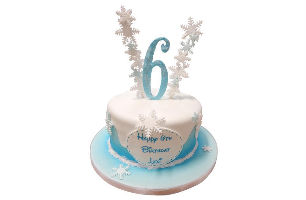 Frozen Cake Simple Design : Frozen Simple Cake