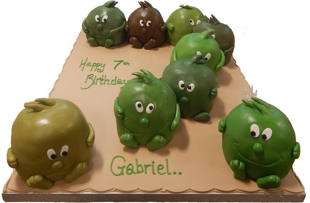 Green Blobs Cake