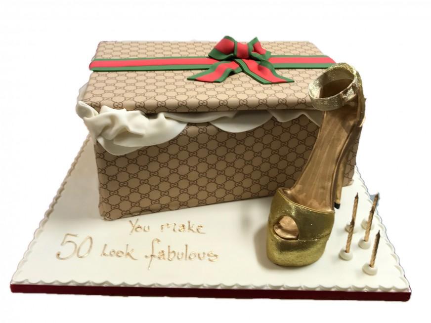 b9099f20a45d Gucci Shoe Box   Shoe Cake