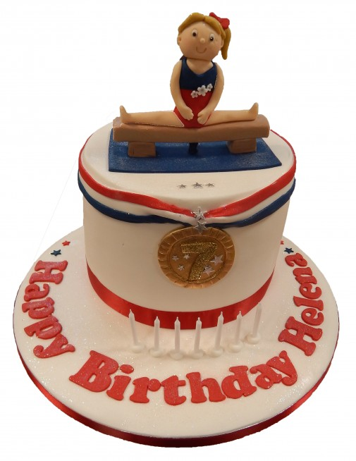 Cool Gymnastics Cake Personalised Birthday Cards Paralily Jamesorg