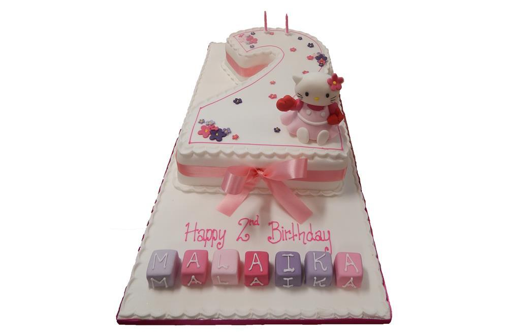 Enjoyable Tiered Hello Kitty Birthday Cake Personalised Birthday Cards Paralily Jamesorg