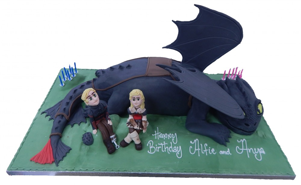 Fine How To Train Your Dragon Birthday Cake Personalised Birthday Cards Veneteletsinfo