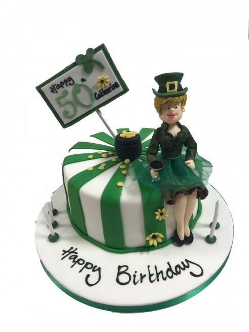 Cool Irish Theme Birthday Cake Personalised Birthday Cards Veneteletsinfo