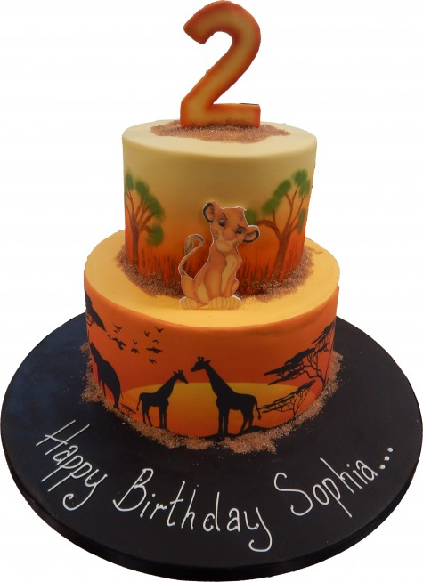 Superb Lion King Tiered Cake Funny Birthday Cards Online Fluifree Goldxyz