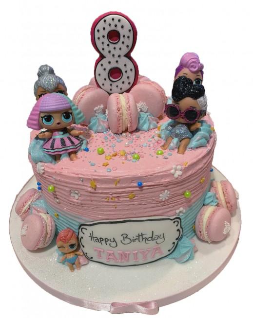 Groovy Lol Doll Birthday Cake Birthday Cards Printable Riciscafe Filternl