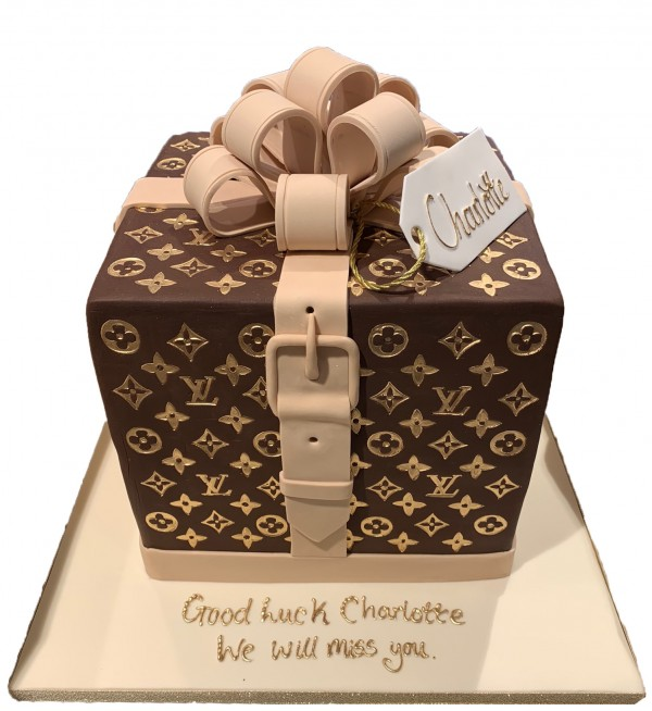 Lv Cake With Bow