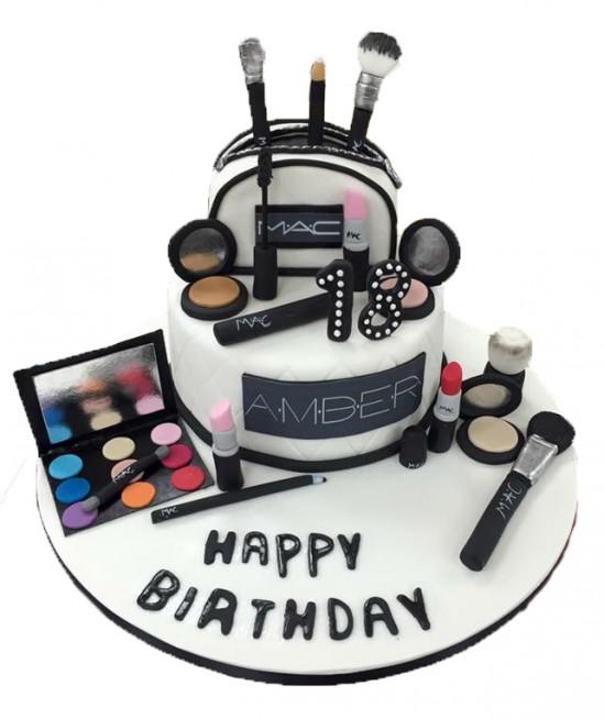 Surprising Mac Make Up Cake Personalised Birthday Cards Sponlily Jamesorg