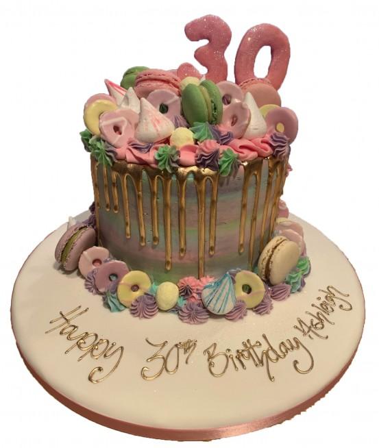 Miraculous Macaron Drip Cake Funny Birthday Cards Online Elaedamsfinfo