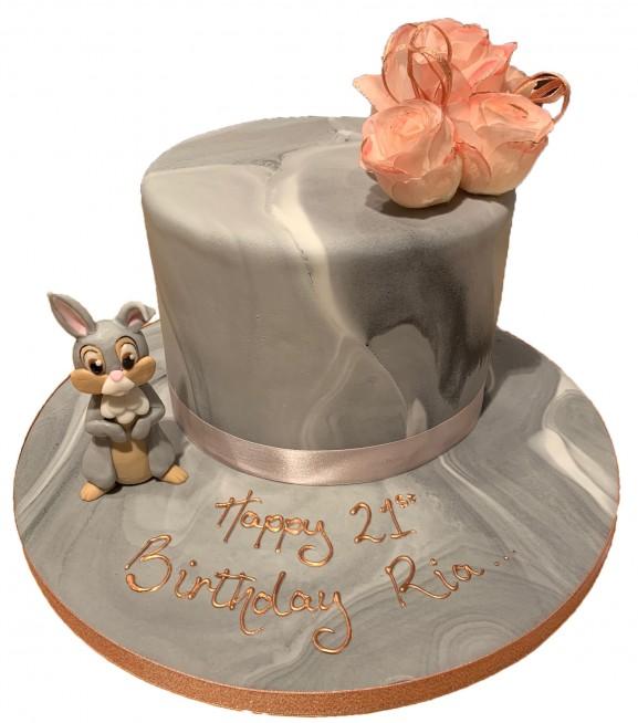Peachy Marble Cake Sugar Rabbit Personalised Birthday Cards Akebfashionlily Jamesorg