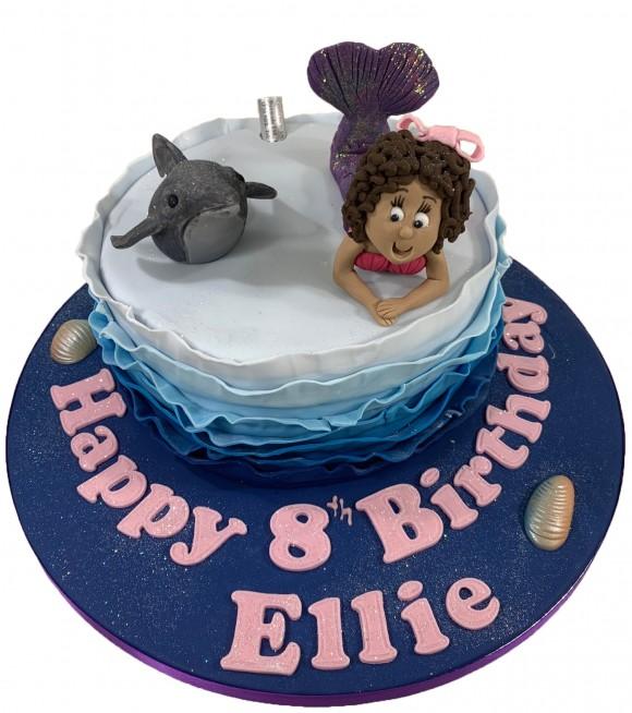Surprising Dolphin Birthday Cake Funny Birthday Cards Online Alyptdamsfinfo