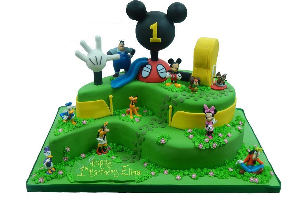 Swell Mickey Mouse Club House Birthday Cake Funny Birthday Cards Online Hendilapandamsfinfo