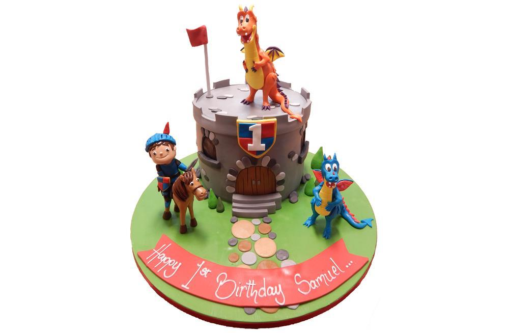 Admirable Mike The Knight Birthday Cake Funny Birthday Cards Online Eattedamsfinfo