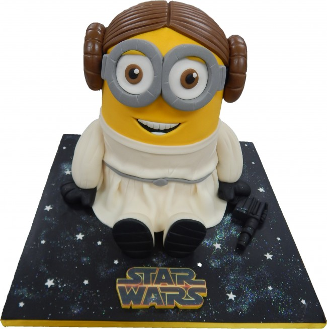 Star Wars Princess Leia Minion Birthday Cake