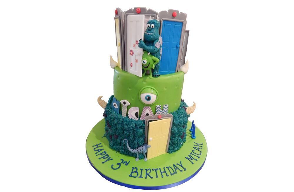 Monsters Inc Tiered Birthday Cake