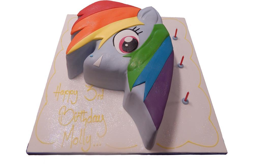 My Little Pony Equestria Girls Tiered Cake