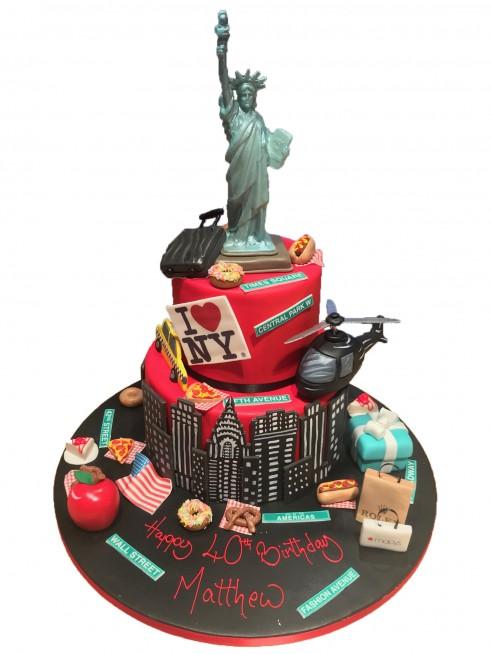 Fabulous New York Items Tiered Cake Funny Birthday Cards Online Elaedamsfinfo