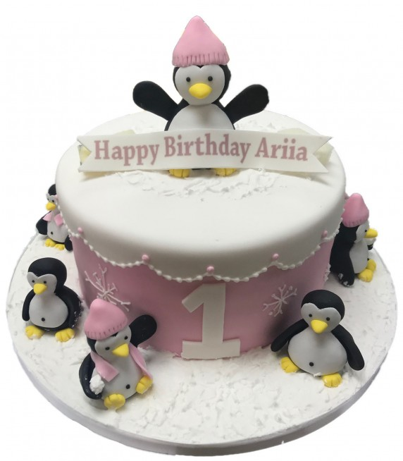 Fine Penguin Cake Funny Birthday Cards Online Aeocydamsfinfo