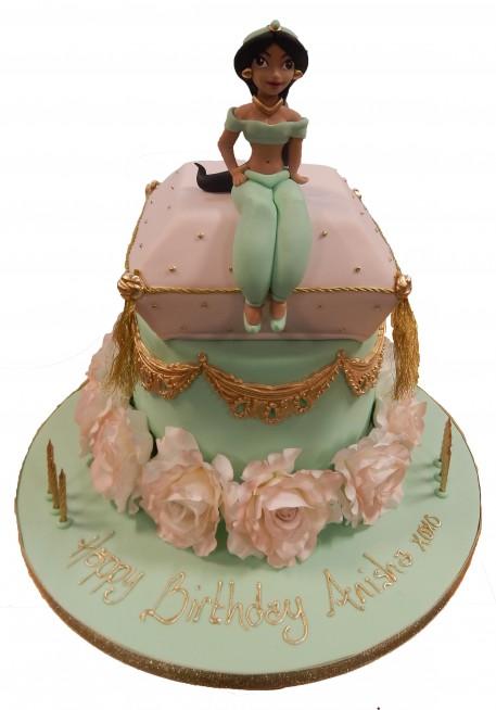 Princess Jasmine Cushion Tiered Cake