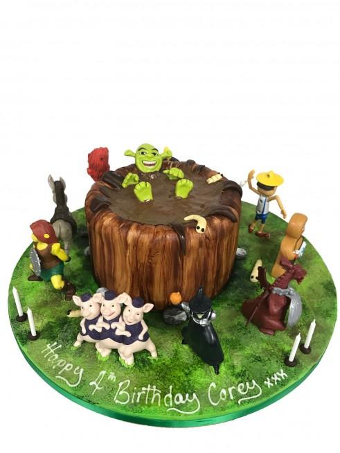Pleasing Shrek Mud Cake Figures Funny Birthday Cards Online Elaedamsfinfo