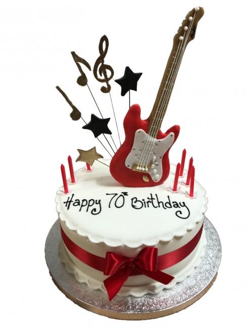 Standing Small Guitar Cake
