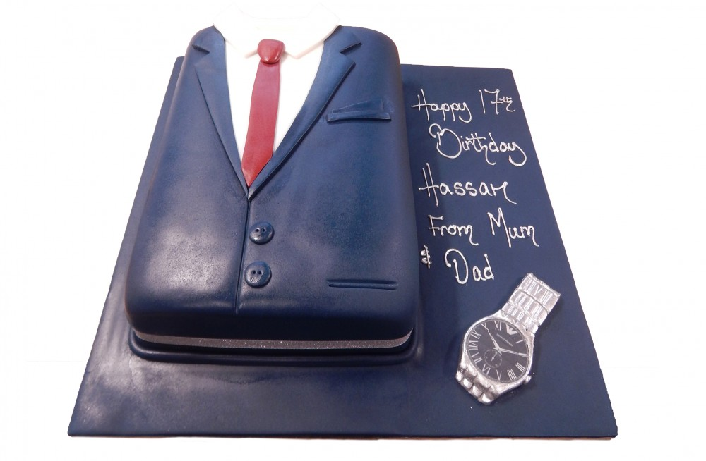 Shirt Tie With Watch Cake