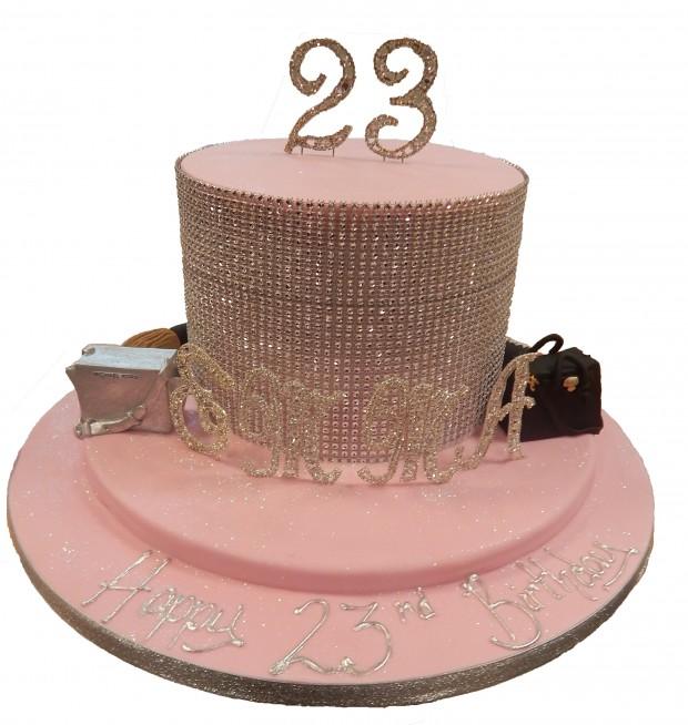 Single Tier Bling Cake