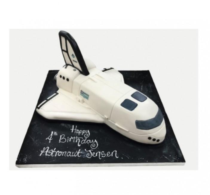 Fantastic Space Shuttle Birthday Cake Personalised Birthday Cards Vishlily Jamesorg