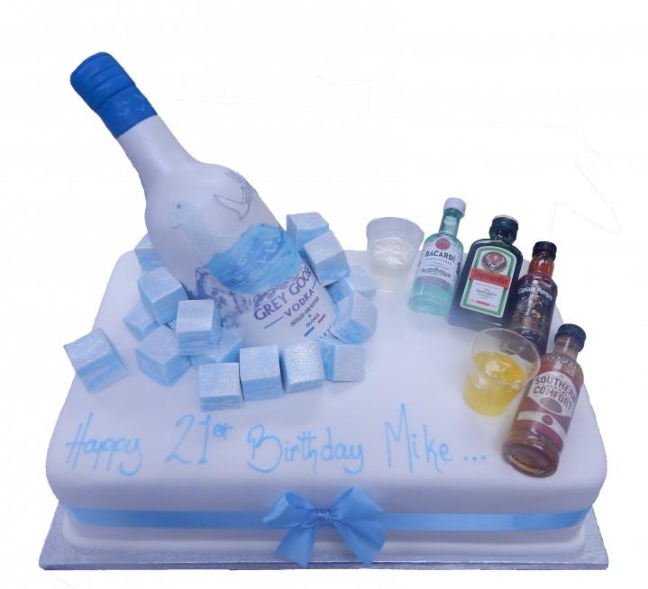 Astonishing Sugar Bottle Minatures Cake Funny Birthday Cards Online Inifofree Goldxyz