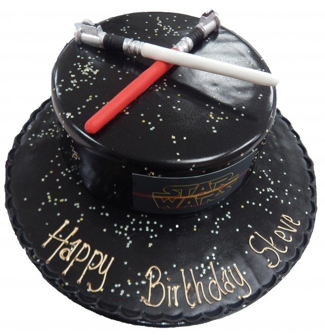 Miraculous Star Wars Lightsaber Cake Funny Birthday Cards Online Sheoxdamsfinfo