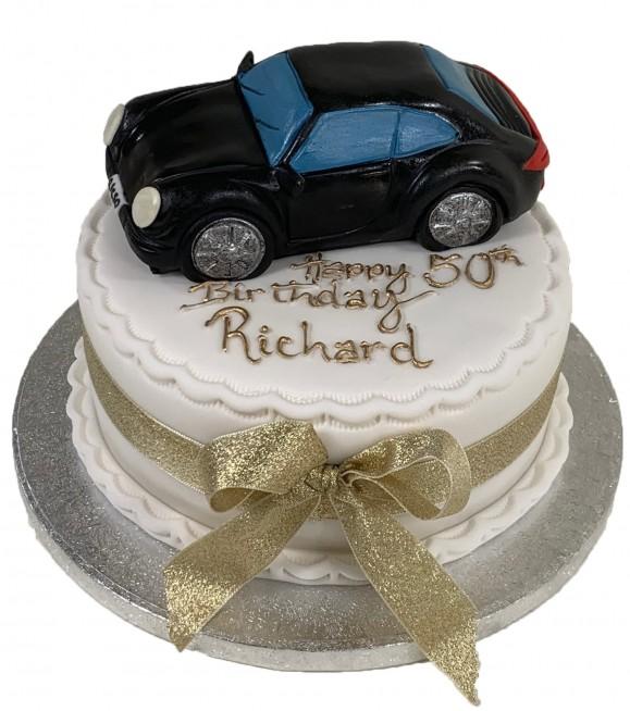Remarkable Car Birthday Cake Personalised Birthday Cards Bromeletsinfo
