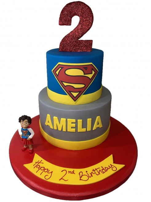 Swell Supergirl Tiered Funny Birthday Cards Online Elaedamsfinfo