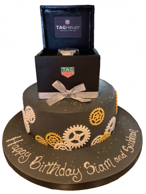 Surprising Tag Heuer Watch Box Cake Personalised Birthday Cards Arneslily Jamesorg