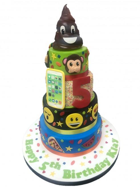 Emoji Tiered Cake