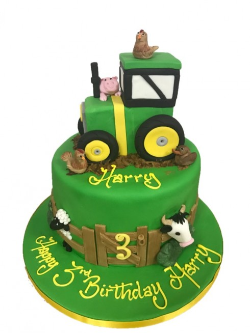 Remarkable Tractor Birthday Cake Funny Birthday Cards Online Alyptdamsfinfo