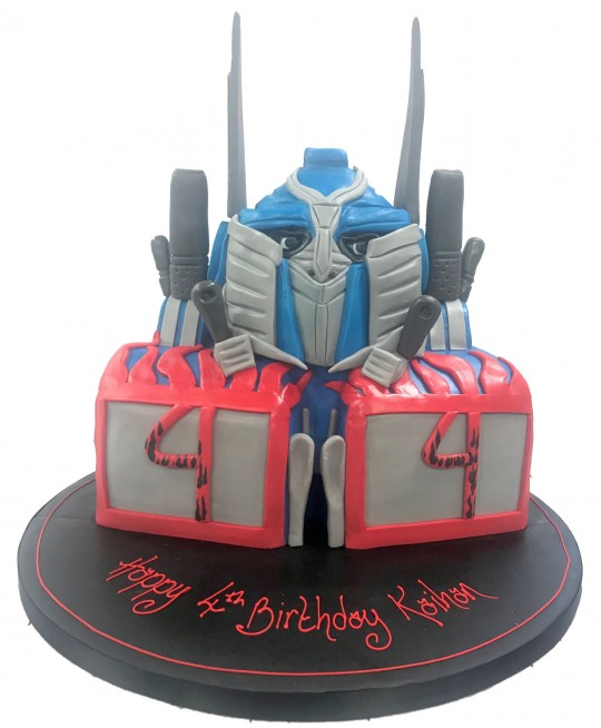 Surprising Transformer Optimus Prime Cake Personalised Birthday Cards Paralily Jamesorg